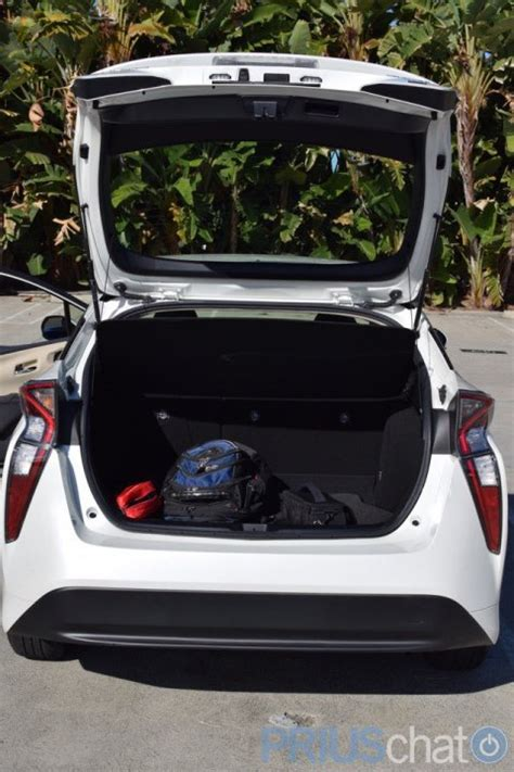 prius prime cargo space 2016 prius rear hatch cargo space with tonneau