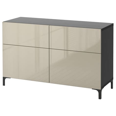 Besta 80 Cm best 197 storage combination w doors drawers black brown