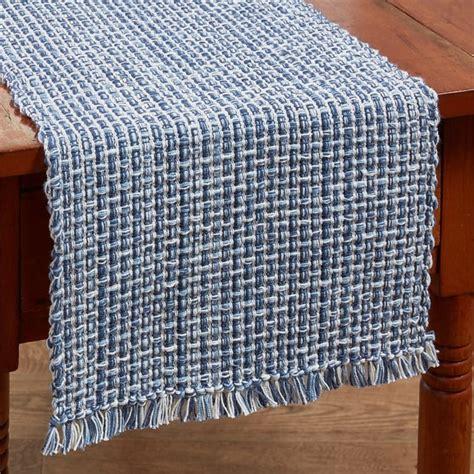 park designs table runner denim blue tweed table runner 13 quot x 36 quot park designs