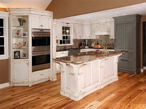 Distressed Blue Kitchen Cabinets Rustic White Kitchen Cabinets Ideas Smith Design