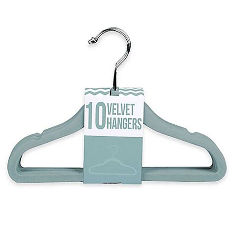 hangers bed bath and beyond 10 pack kids velvet hangers in aqua bed bath beyond