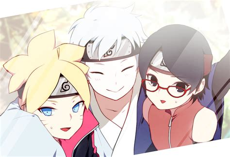 N Anime Boruto by Anime Boruto Mitsuki Sarada Uchiha Hd Wallpaper 1920x1315