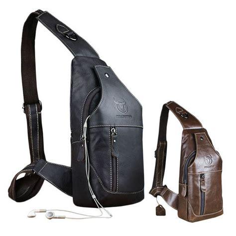 Sling Bag Leather Shoulder s genuine leather sling bags chest shoulder bag