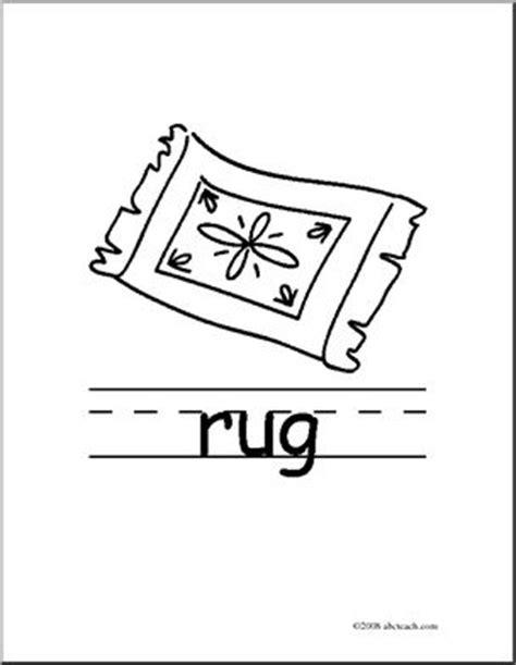 clip art basic words rug b w poster i abcteach com