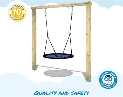 aero swing wickey aero sun outdoor swing frame wooden garden children