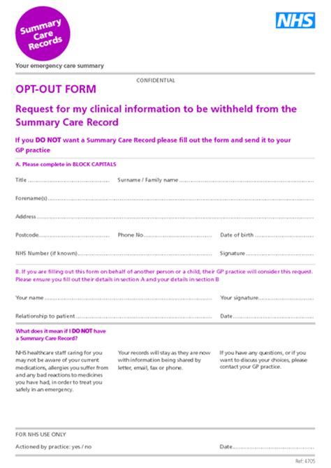 Records Opt Out Summary Care Records Somerset Ccg