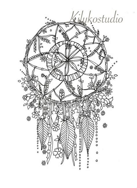 coloring pages for adults dream catchers 114 b 228 sta bilderna om dreamcatcher coloring pages for