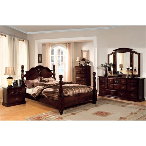 furniture of america cathey 4 piece california king canopy furniture of america cathie 4 piece california king bedroom set idf 7571ck 4pc