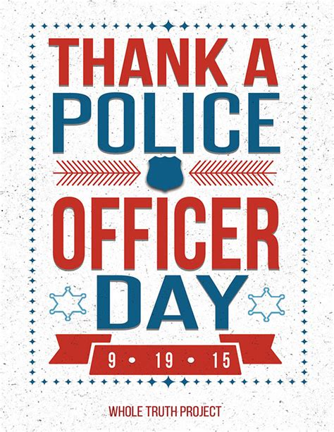 National Thank A Officer Day by Around Our Area County Citizens Observe National