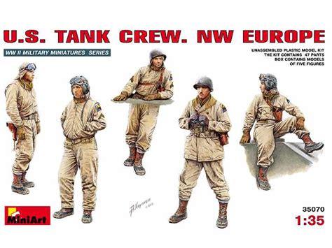 Model Kit Miniart 135 Tank Crew Wwii miniart 1 35 35070 wwii us tank crew nw europe