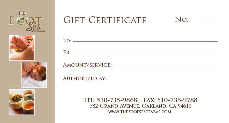 printable spa gift cards foot spa gift certificate namaste spa at marriott s