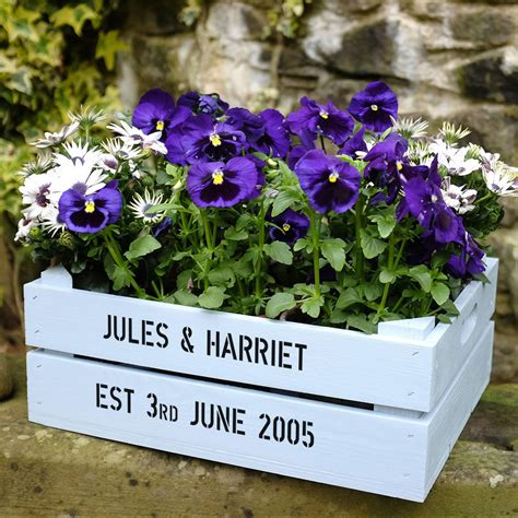 Personalised Garden Planters by Personalised Medium Planter Crate By Plantabox