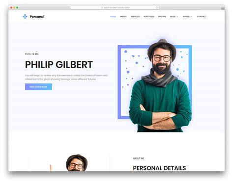 Personal Free Personal Portfolio Website Template Colorlib Simple Personal Website Template