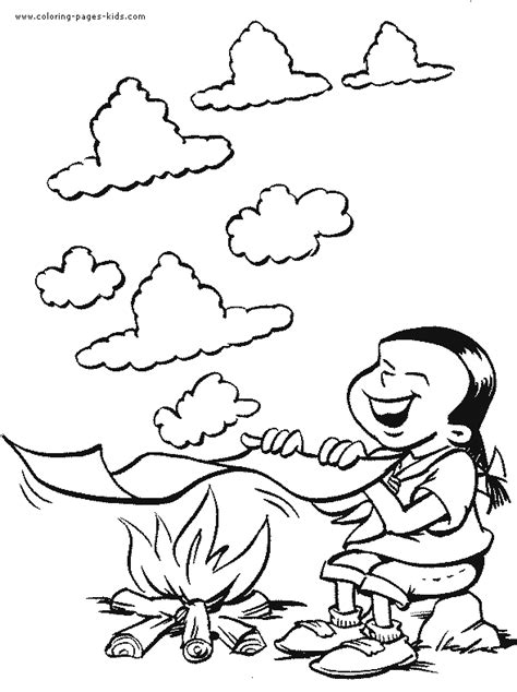 coloring book smoke scouting color page coloring pages for family
