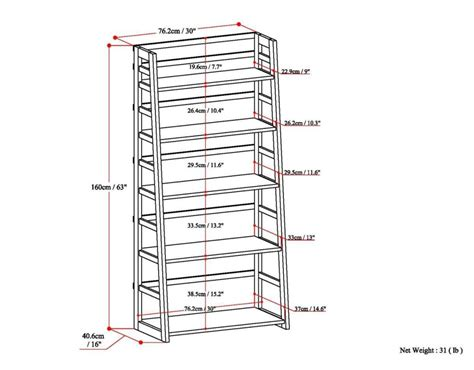 simpli home acadian ladder shelf bookcase rich tobacco brown amazon com simpli home acadian ladder shelf bookcase