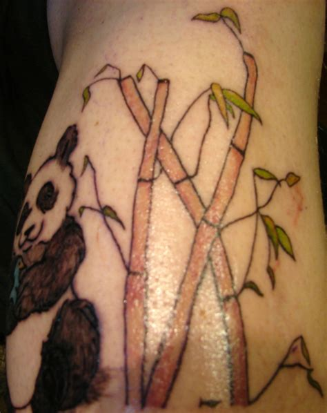 bamboo tattoos designs panda bamboo