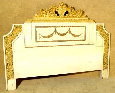 large neo classic gold white gold headboard