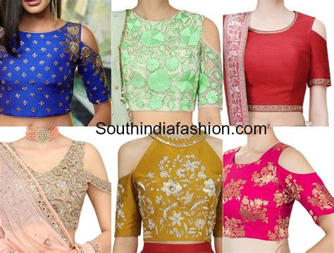 top design 9 latest cold shoulder crop top designs south india fashion