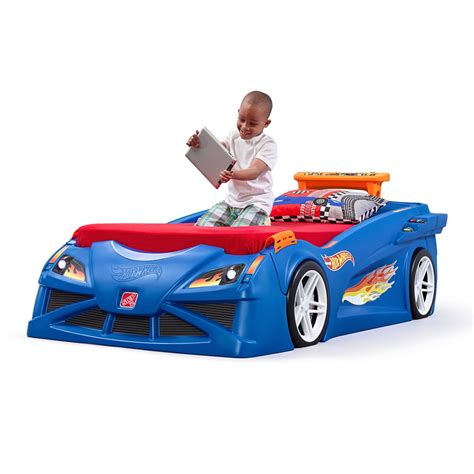 step 2 race car bed set wheels toddler to race car bed bed step2