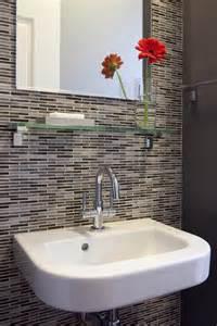 Glass Tile Powder Room Phenomenal Merola Tile Flooring Decorating Ideas Gallery
