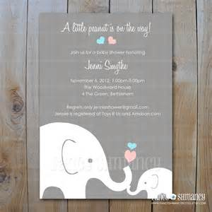 elephant baby shower invitation by fancyshmancynotes