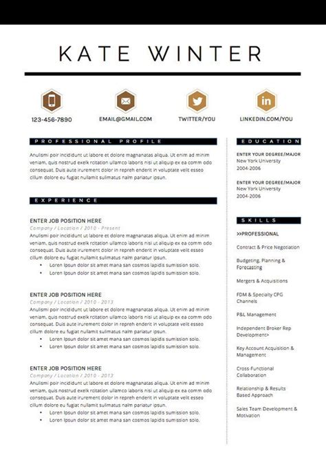 Resume Template The 3pk by Best 25 Cv Template Ideas On Creative Cv
