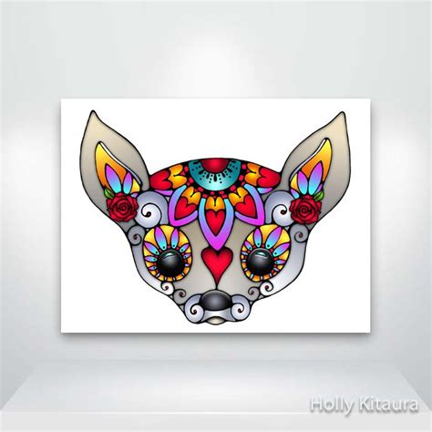 chihuahua sugar skull tattoos pinterest