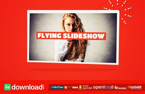 flying slideshow free after effects project videohive