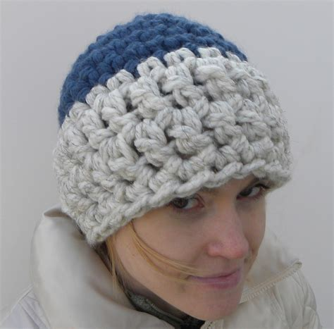 crochet pattern bulky yarn hat crochet beanie hat using 2 strands of super bulky yarn