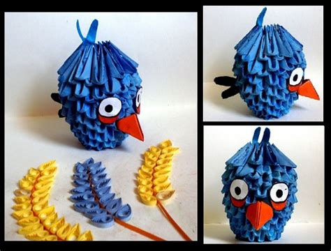tutorial angry bird origami 3d 5 easy diy papercraft ideas 3d origami quilling