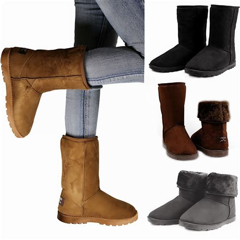 shoes for in winter winter boots s faux fur suede mid calf warm snow