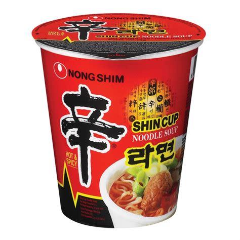 shin ramyun cup noodle soup scharf nong shim fertiggerichte nudelsuppen