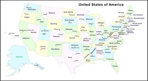 usa map with capital cities printable map of united states with capitals map of usa