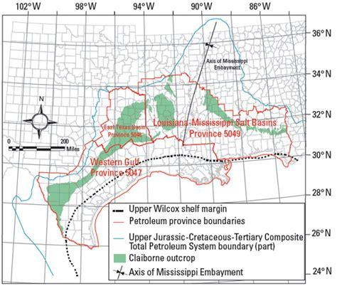 map of gulf coast states figure 1 map of gulf coast states showing petroleum