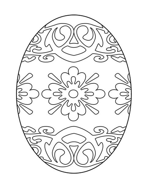 printable easter egg coloring page free color me pinterest