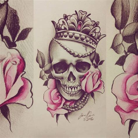 awesome flowery crown u0026 skull 39163 best images about tattoos on tattoos for