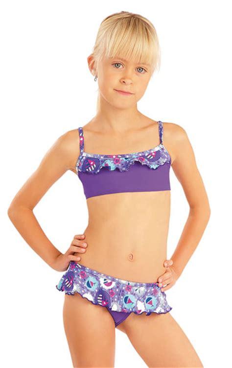 little swimsuit litex girls swimwear girl 180 s ruffle bikini top 88474 litex