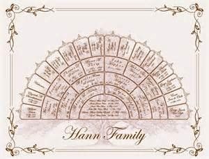 family tree fan template family tree 5 generation fan chart by familytreecmg on etsy