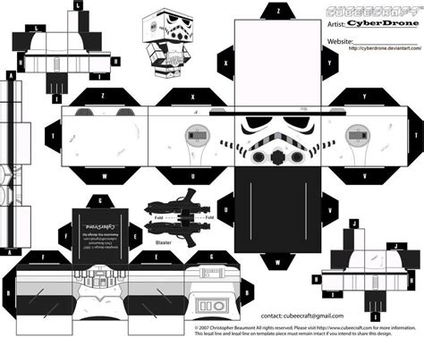 my custom version cubeecraft papercraft cutout template