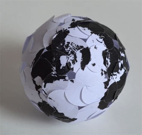 Papercraft Sphere - david swart and evan swart mathematical galleries