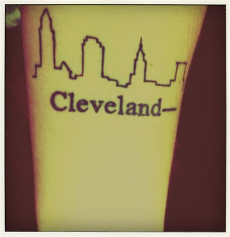 cleveland skyline tattoo best 20 ohio ideas on