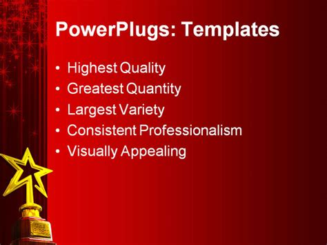 Powerpoint Template Red Glowing Curtain Background With Awards Presentation Template