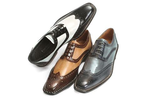 new s liberty leather two tone wing tip oxford dress shoes ls 827 brown ebay