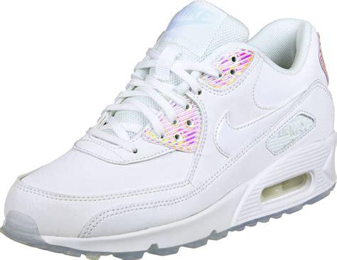 nike air max 90 prem w shoes white silver