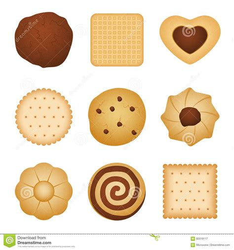 different shapes of biscuit home made cookies food