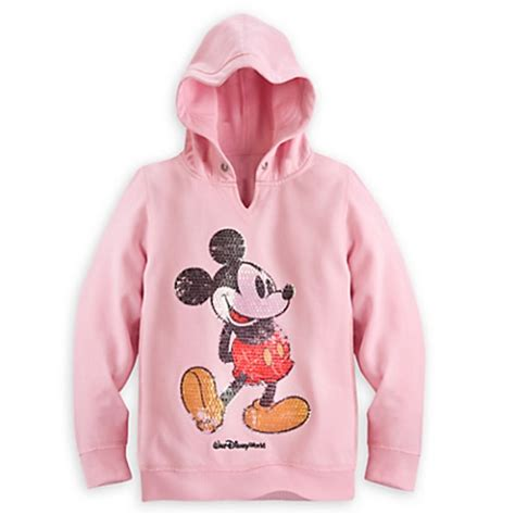 Sweater Mickey Pink disney sweatshirt for mickey mouse sequined hoodie pink