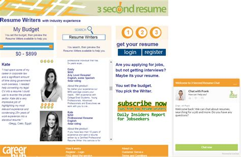 college website resume services