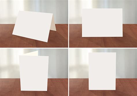 Photoshop Card Presentation Templates Programmers by Greeting Card Photoshop Mockup On Behance
