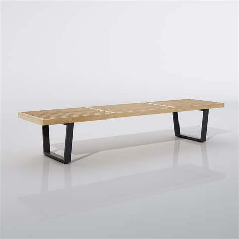 3d bench vitra nelson bench 3d model max obj 3ds fbx cgtrader com