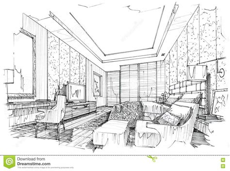 house interior sketch interior design bedroom sketches inspiration decorating